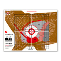 Life-Size Deer Vitals Skeleton Sight-In Hunting Readiness Paper Shooting Targets