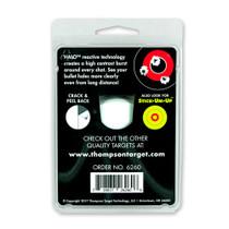 "Thompson Target HALO Stick-Um-Up 3"" Adhesive Reactive Splatter Shooting Targets - Back"