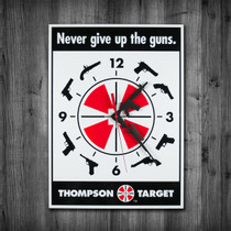 Thompson Target 2nd Amendment Gun Rights Clock on wall