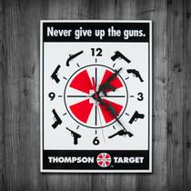 Thompson Target 2nd Amendment Gun Rights Clock on wall