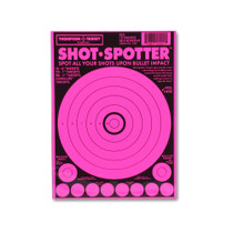 Shot Spotter Pink Adhesive Peel & Stick Gun Shooting Targets by Thompson
