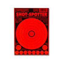 Shot Spotter Dark Orange Adhesive Peel & Stick Gun Shooting Targets by Thompson