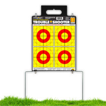 Quik-Stand Portable Durable Reusable Outdoor Plastic Gun Shooting Target Stand for rifle & pistol by Thompson - deployed