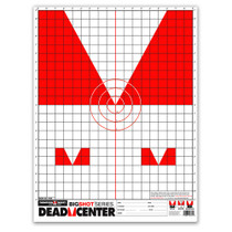 "Dead Center 19""x25"" Iron Open Skirmish Sights Paper Shooting Targets by Thompson"