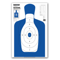 B27Q-BLUE Silhouette Law Enforcement & Qualification Pistol Handgun Indoor Range Gun Shooting Targets by Thompson