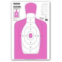 B27Q-PINK Silhouette Law Enforcement & Qualification Handgun Pistol Indoor Gun Range Shooting Targets by Thompson