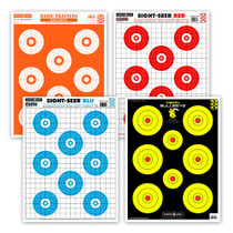 Ultra Bright Bullseye Shooting Target Combo Pack