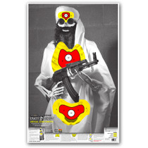 "Crazy-Bones Terrorist Osama Bin Laden ISIS 25""x38"" Paper Shooting Target by Thompson"