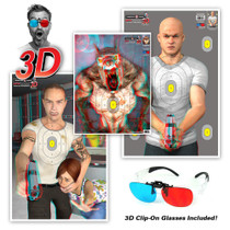 3D Paper Targets with 3D Glasses included