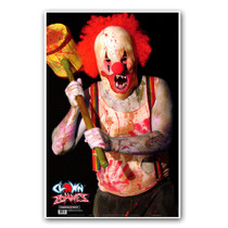 "Clown Zombie 25""x38"" Indoor Gun Range Fun Paper Shooting Targets by Thompson"