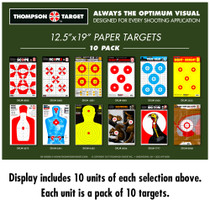 5700-B Target Display - 10 Units Each of 12 selections (120 Total Units)