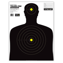 Yellow-Fire Life Size Human Silhouette Paper Shooting Targets by Thompson