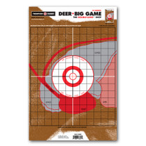 "Life Size Deer Vitals Targets 12.5""x19"" Paper Hunting/Shooting by Thompson"
