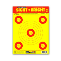 "Sight Bright 9""x12"" Paper Bullseye Shooting Targets by Thompson"