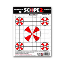 "Scope 2 Sight In 9""x12"" Paper Shooting Targets by Thompson"