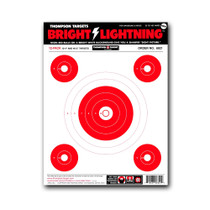 "Bright Lightning 9""x12"" Paper Bullseye Shooting Targets by Thompson"