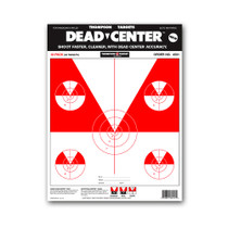Dead Center Paper Open Sight & Iron Sight Skirmish Bullseye Targets by Thompson