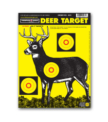 Life Like 8 Point White Tail Deer Sight In Paper Gun Target by Thompson