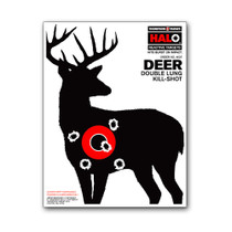 "HALO Deer Buck 8.5""x11"" Reactive Splatter Gun Shooting Targets by Thompson"