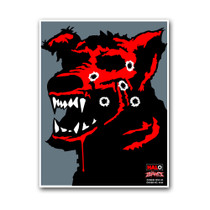 HALO Zombie Dog #2 Reactive Splatter Shooting Targets by Thompson
