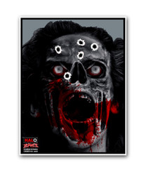 HALO Zombie Woman Reactive Splatter Shooting Targets by Thompson