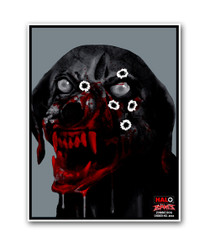 HALO Zombie Dog Reactive Splatter Shooting Targets by Thompson