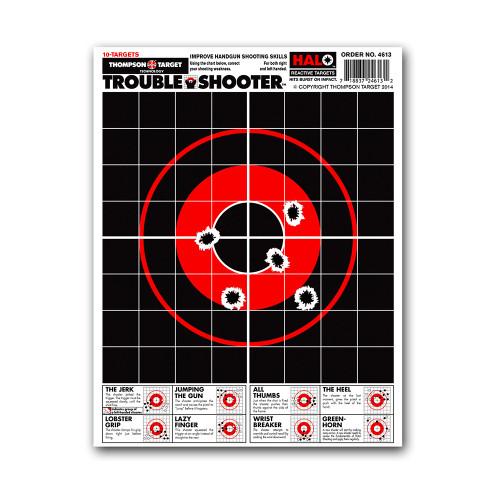 HALO Trouble Shooter Reactive Diagnostic Handgun Pistol Gun Shooting Targets by Thompson