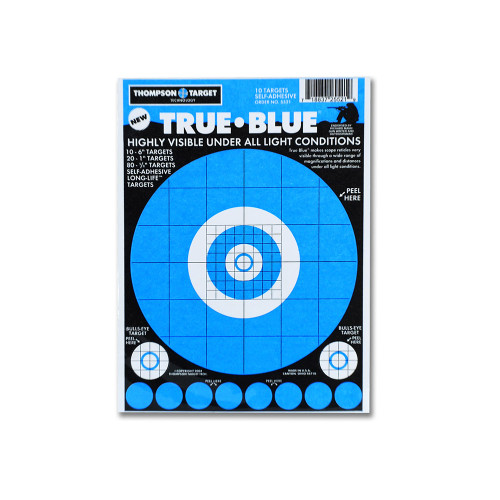 """True Blue 6""""x9"""" Adhesive Peel & Stick Gun Shooting Targets with pasters by Thompson"""