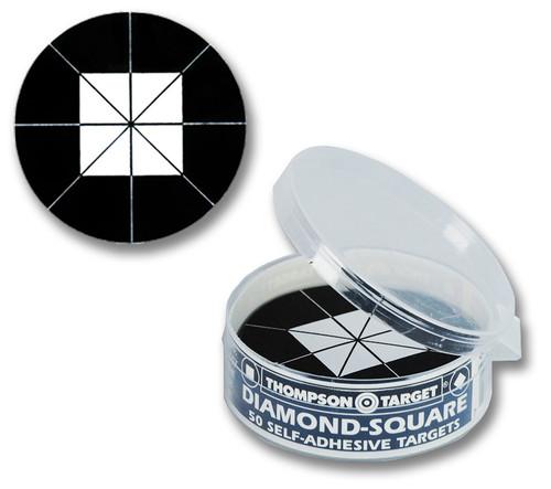 Diamond Square Black Adhesive Shooting Targets by Thompson