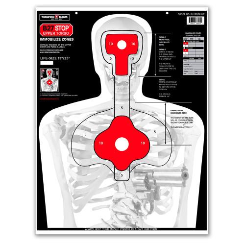 B27STOP Upper Torso Human Silhouette Shooting Targets by Thompson