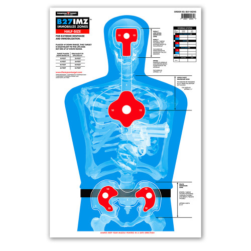 B27-IMZ Half-Size Silhouette Shooting Targets by Thompson Target