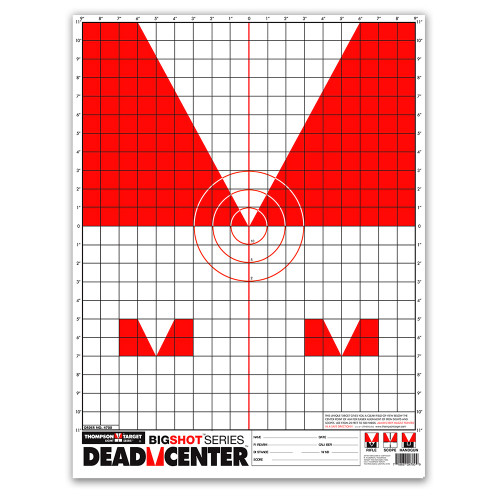 """Dead Center 19""""x25"""" Iron Open Skirmish Sights Paper Shooting Targets by Thompson"""