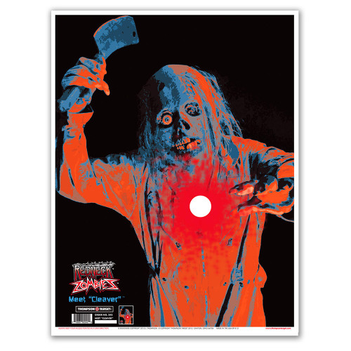 Meet Cleaver Paper Zombie Shooting Targets by Thompson