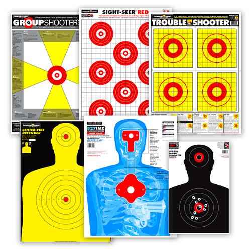 Premium Target Package for Handgun - Ultra Bright & Splatter Shooting Targets