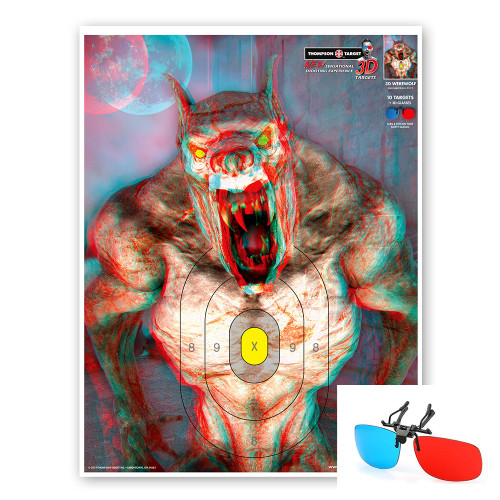 3D Werewolf - Three Dimensional Paper Shooting Targets by Thompson