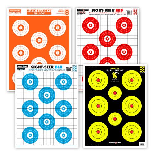 Ultra Bright Bullseye Shooting Target Combo Pack
