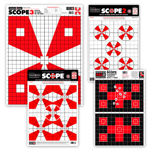 Scope Sight In Paper Shooting Targets