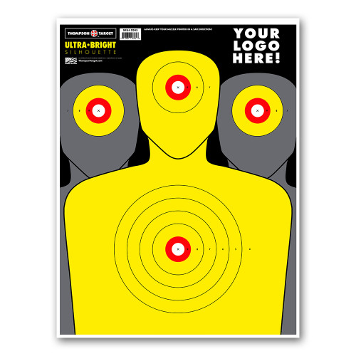 """Private Label Ultra Bright Silhouette 19""""x25"""" Paper Shooting Targets by Thompson"""