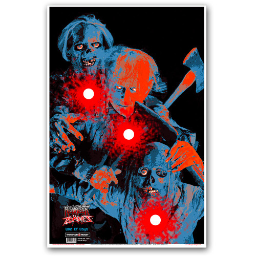 Bad Ol' Boys Paper Zombie Shooting Targets by Thompson