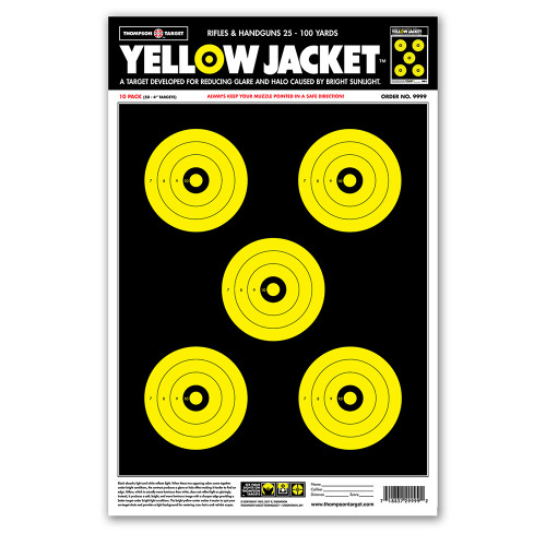 """Yellow Jacket 12.5""""x19"""" Paper Shooting Targets by Thompson"""