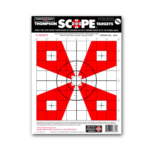 "Scope Alignment/Sight-In Zeroing 9""x12"" Bright Paper Shooting Targets by Thompson"