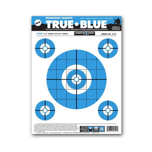 "True Blue 9""x12"" Paper Bullseye Shooting Targets by Thompson"