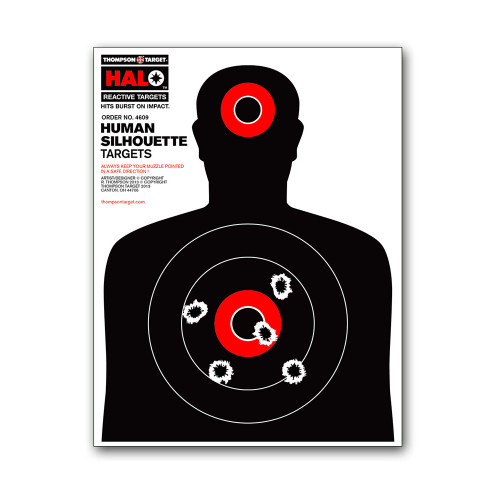 HALO Human Silhouette Reactive Splatter Gun Shooting Targets by Thompson