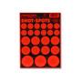 Shot Spots Bright Orange Adhesive Peel and Stick Bullseye Paster Gun Targets by Thompson