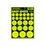 Shot Spots Green Adhesive Peel and Stick Bullseye Paster Gun Targets by Thompson