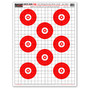 "Sight Seer Red 19""x25"" Paper Bullseye Shooting Targets by Thompson"