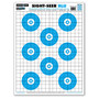 Sight Seer Blu Bullseye Paper Shooting Targets by Thompson