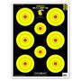 "Neon Bullseye 19""x25"" Paper Bullseye Shooting Targets by Thompson"