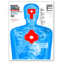 B27-IMZ Upper Torso Life Size Silhouette Ultra Bright Paper Shooting Targets