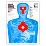 B27-IMZ Upper Torso Life Size Silhouette Ultra Bright Paper Shooting Targets
